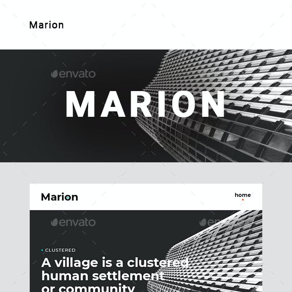 Marion – Multipurpose Email Template
