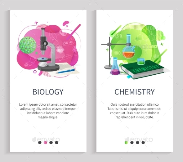 Biology and Chemistry School Subjects University - Miscellaneous Vectors