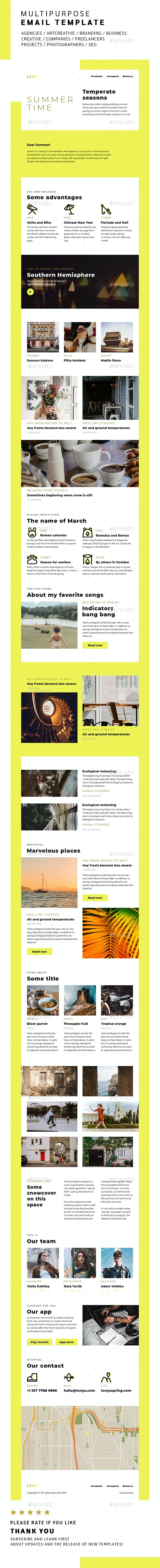 Leah / Multipurpose Email Template - E-newsletters Web Elements