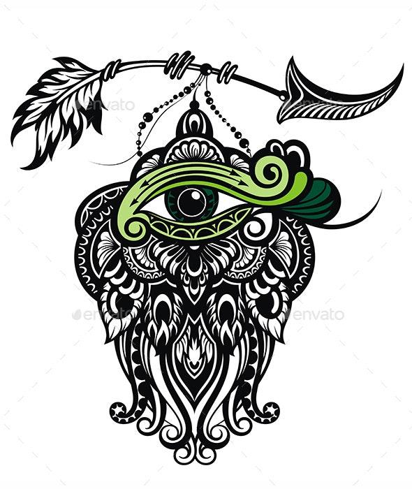 Ethnic Eye and Arrow - Miscellaneous Vectors