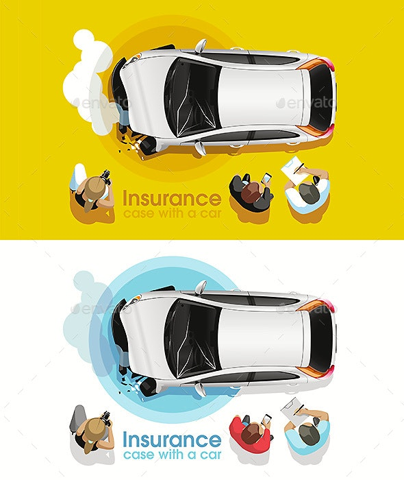 Insurance Agents Assess Car Accident Damage - Industries Business