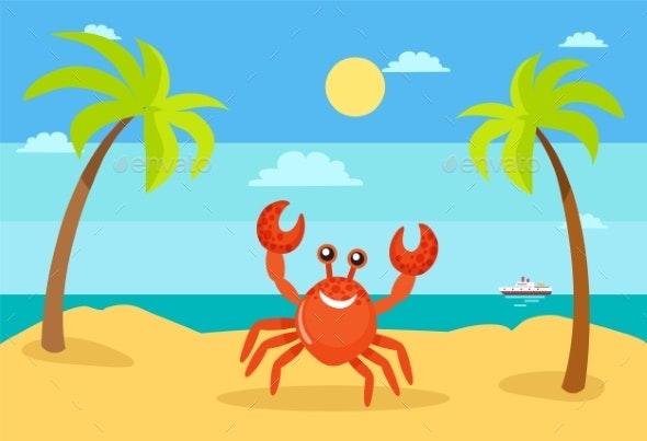 Summer Holiday Crab - Animals Characters