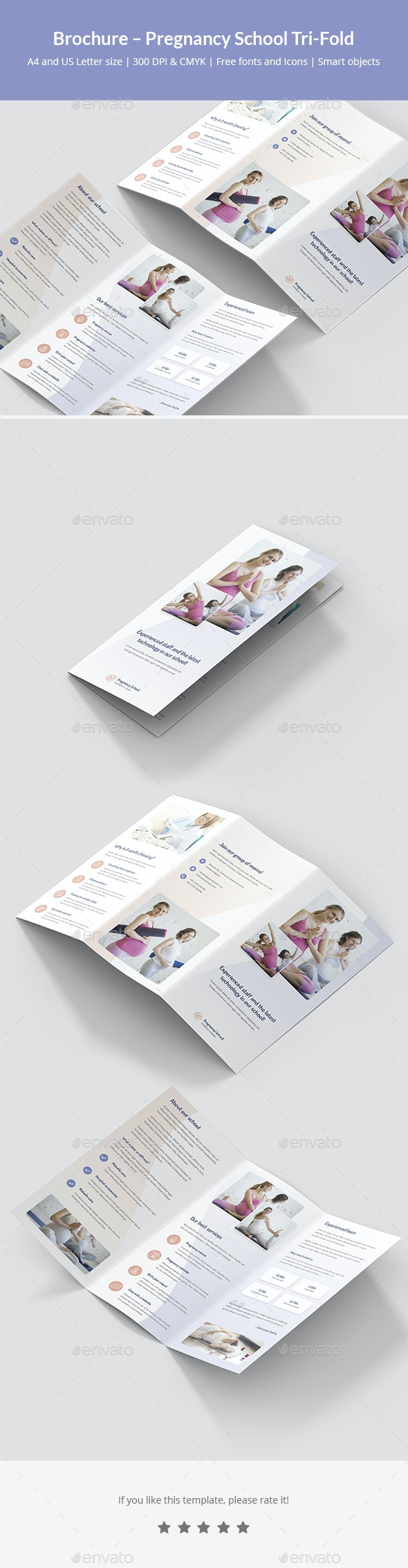 Brochure – Pregnancy School Tri-Fold - Informational Brochures