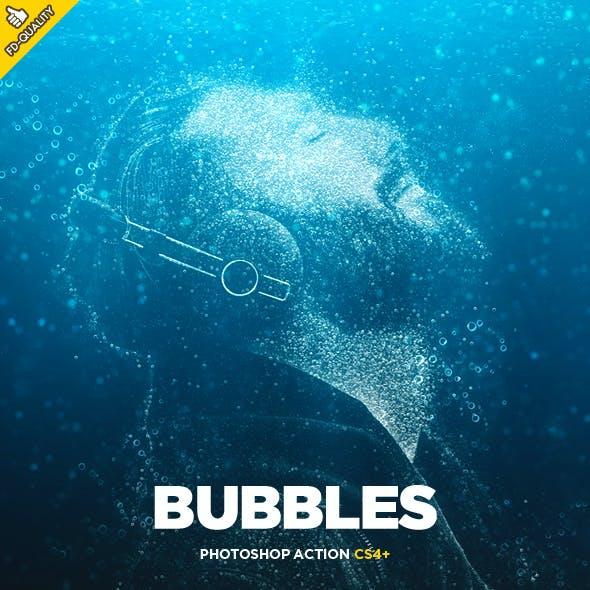 Bubbles CS4+ Photoshop Action
