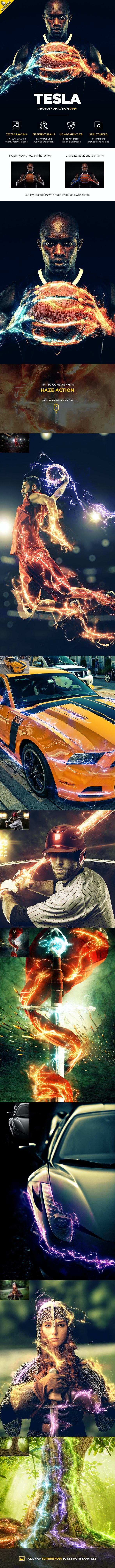 Tesla CS3+ Photoshop Action - Photo Effects Actions