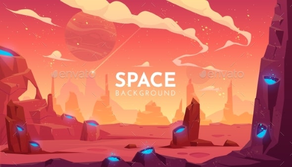 Space Background Empty Alien Fantasy Landscape - Landscapes Nature