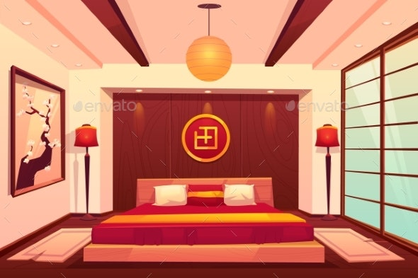 Asian Bedroom - Buildings Objects