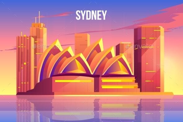 Sydney City Skyline Australia Famous Architecture - Buildings Objects