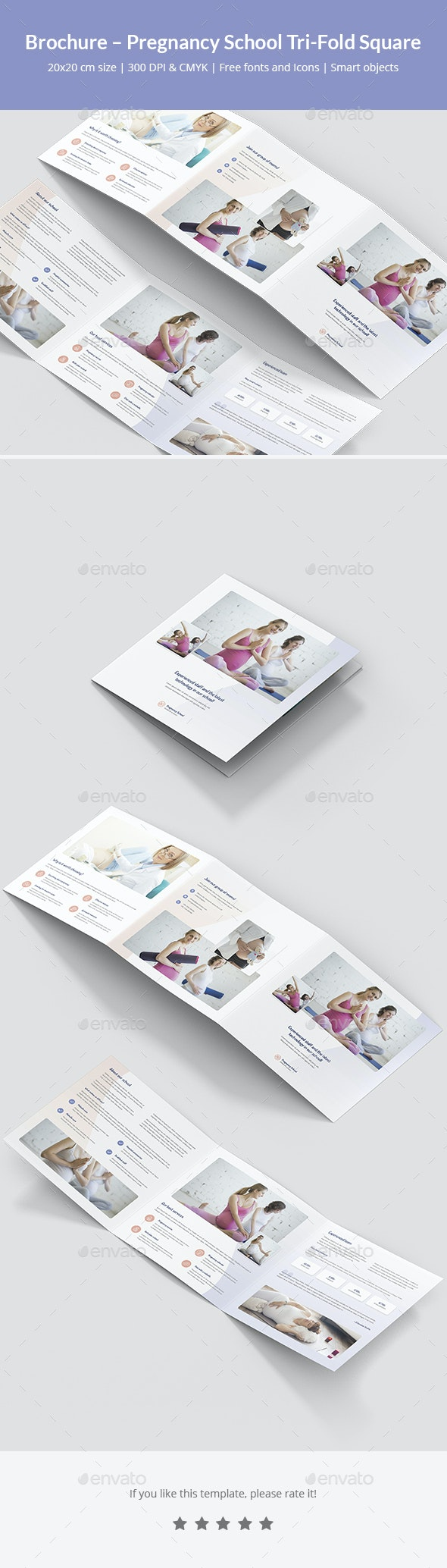 Brochure – Pregnancy School Tri-Fold Square - Informational Brochures
