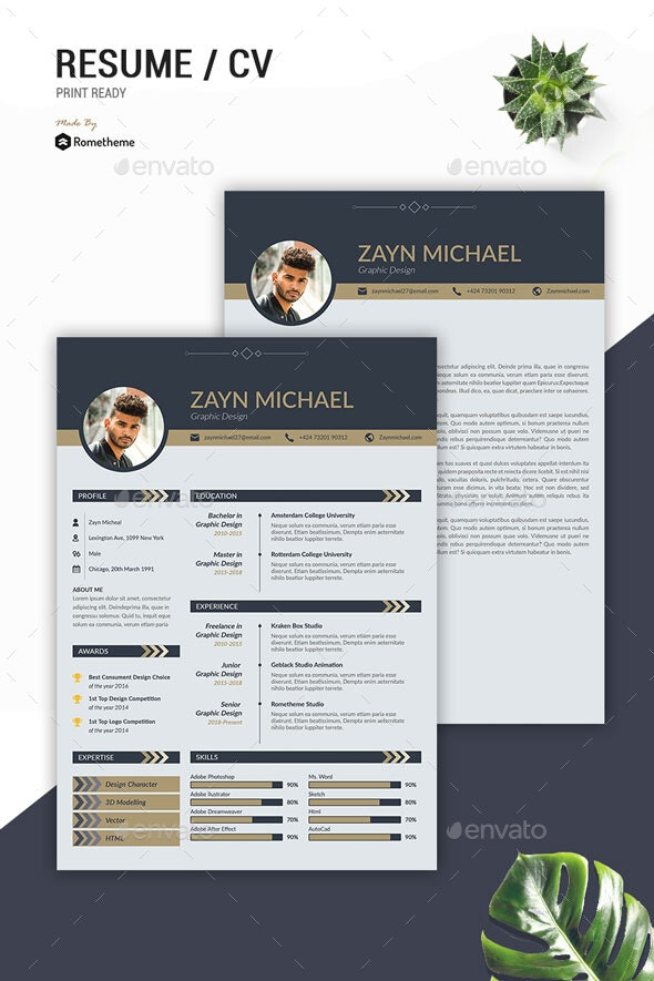 Clean Resume Vol.55 - Resumes Stationery