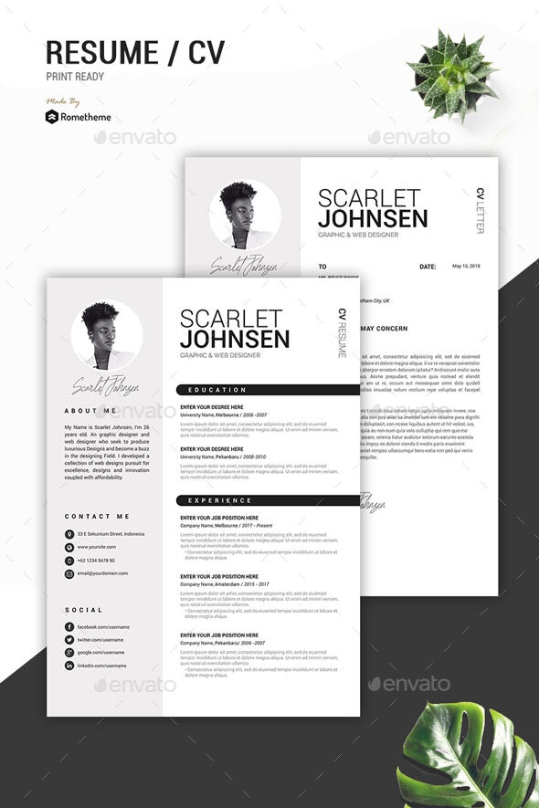 Clean Resume Vol.41 - Resumes Stationery