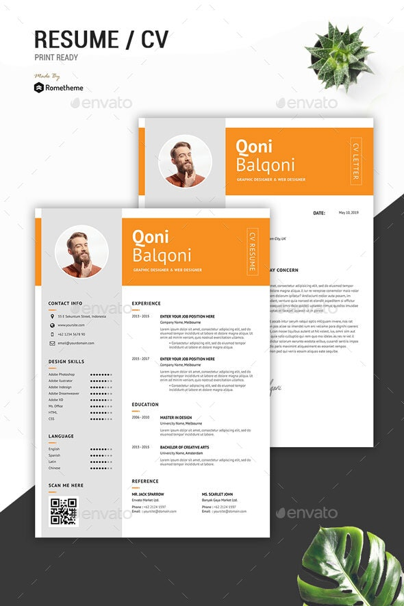 Clean Resume Vol.43 - Resumes Stationery