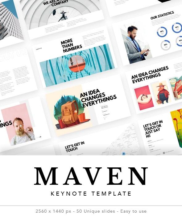 Maven - Creative Simple Keynote Template - Keynote Templates Presentation Templates