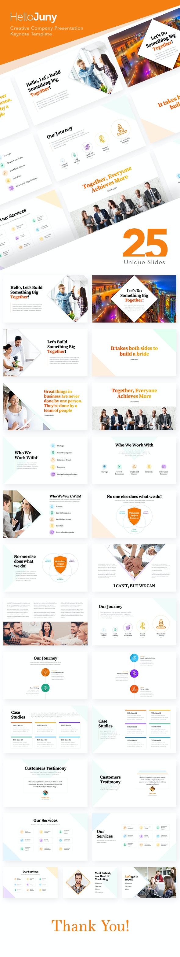 HelloJuny - Creative Company Business Keynote Template - Keynote Templates Presentation Templates