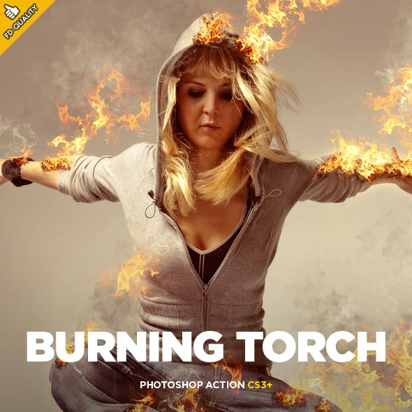 Burning Torch Photoshop Action