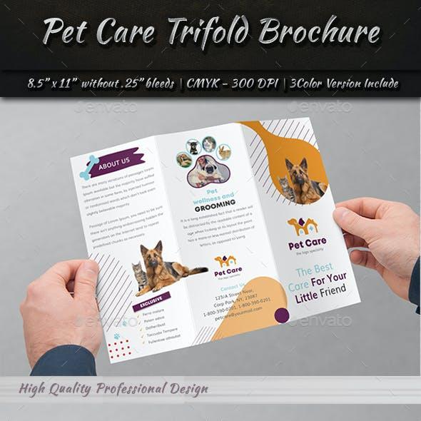 Pet Care Tri-Fold Brochure