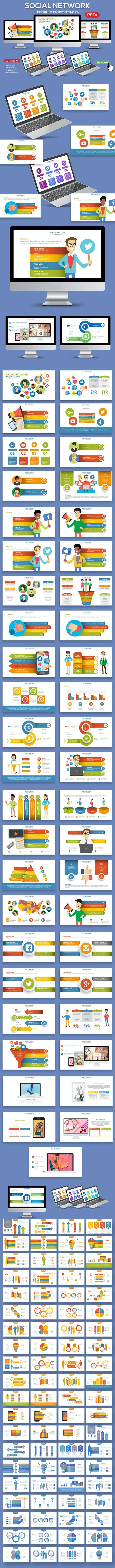 Social Network Powerpoint Presentation - PowerPoint Templates Presentation Templates