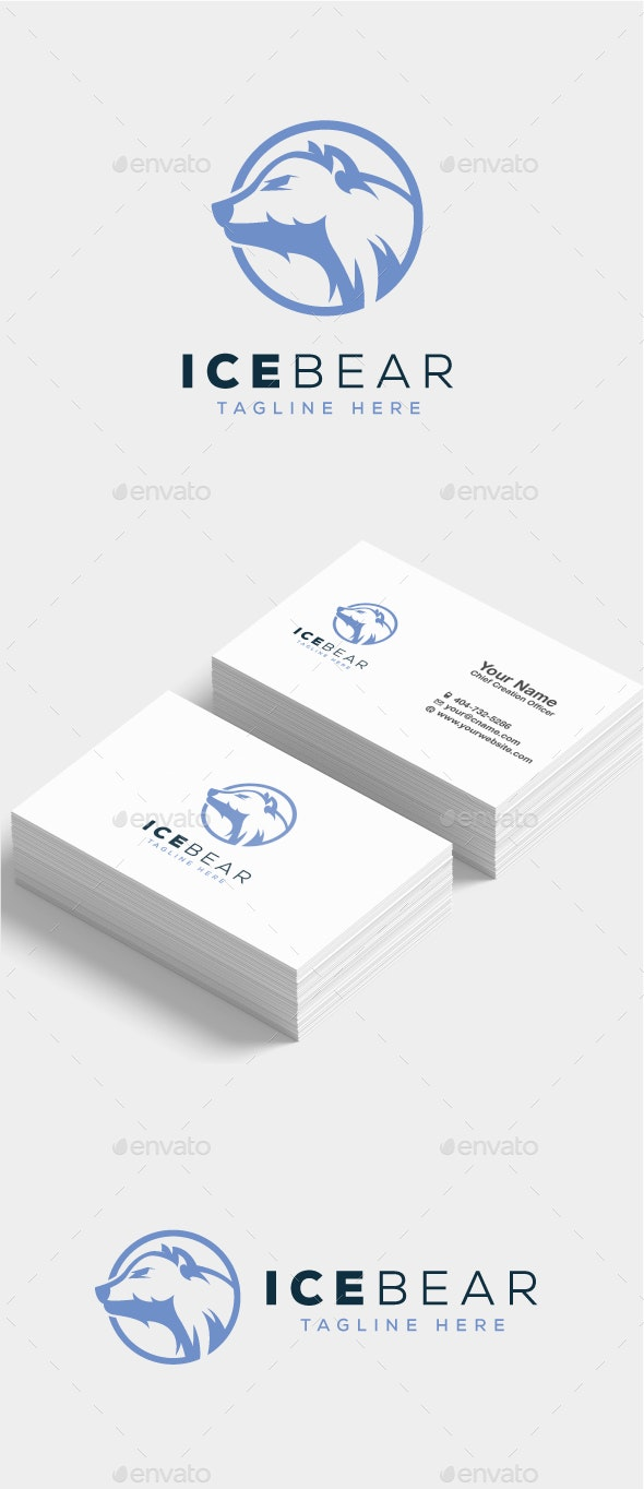Ice Bear Logo - Animals Logo Templates