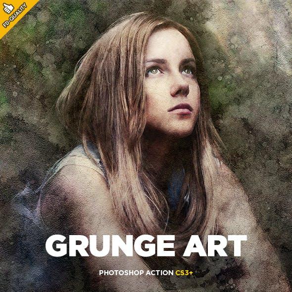 Grunge Art CS3+ Photoshop Action