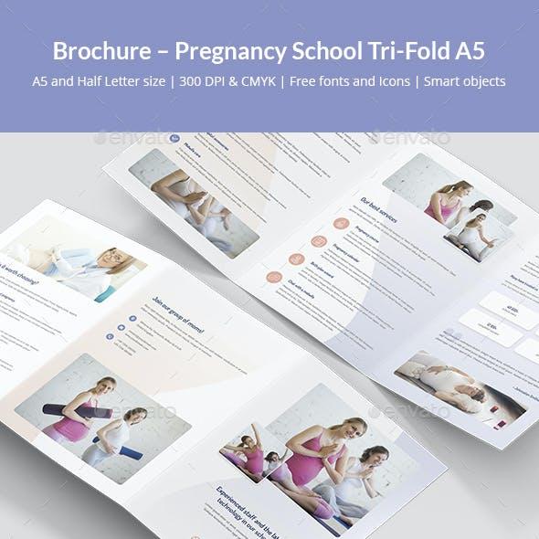 Brochure – Pregnancy School Tri-Fold A5