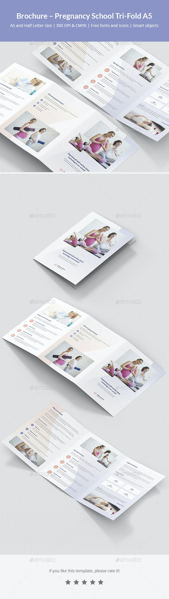 Brochure – Pregnancy School Tri-Fold A5 - Informational Brochures