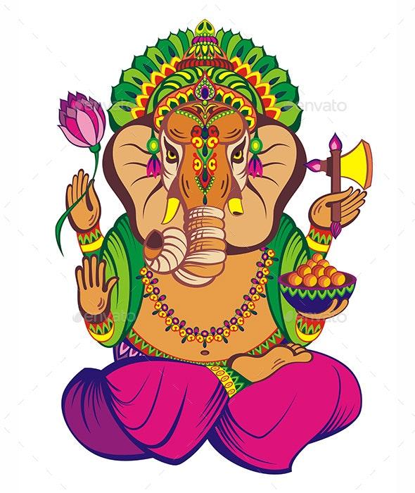 Decorative Elephant  Ganesha - Miscellaneous Vectors