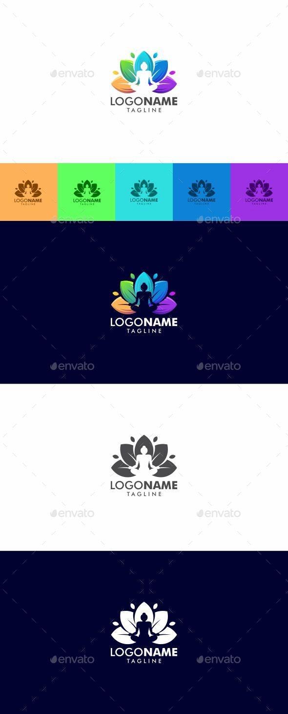 Colorful Yoga Logo Design - Logo Templates