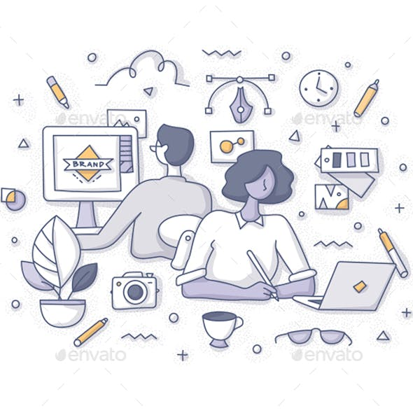 Designers at Work Concept