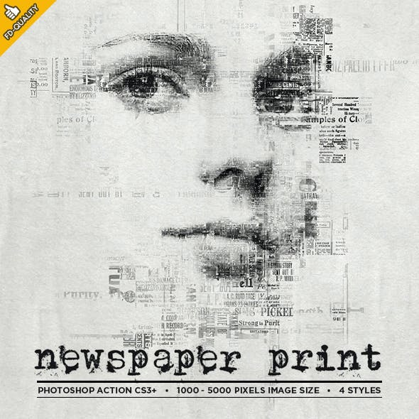 Newspaper Print Photoshop Action CS3+