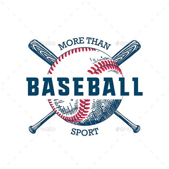 Sketch of Ball and Bat With Motivational Typography - Sports/Activity Conceptual