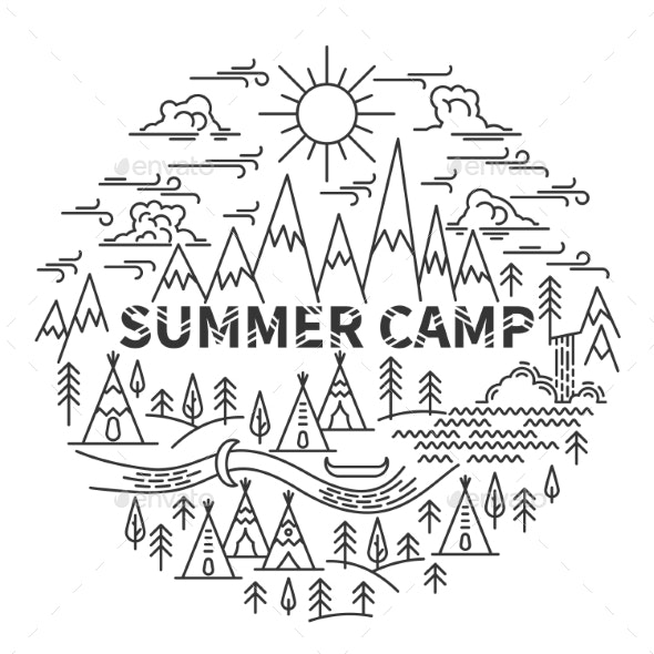 Banner for Camping - Abstract Conceptual