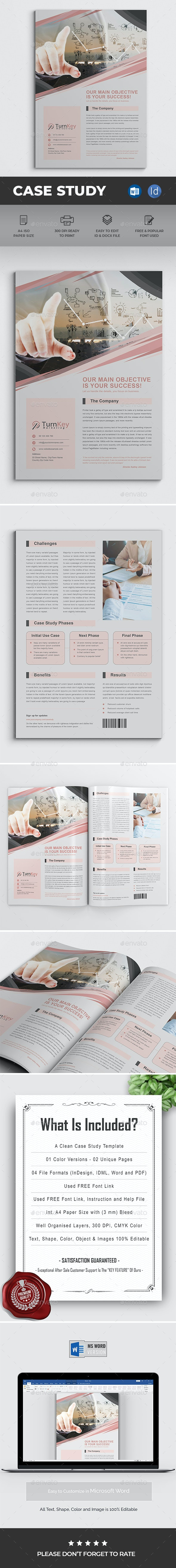 Case Study Word - Brochures Print Templates