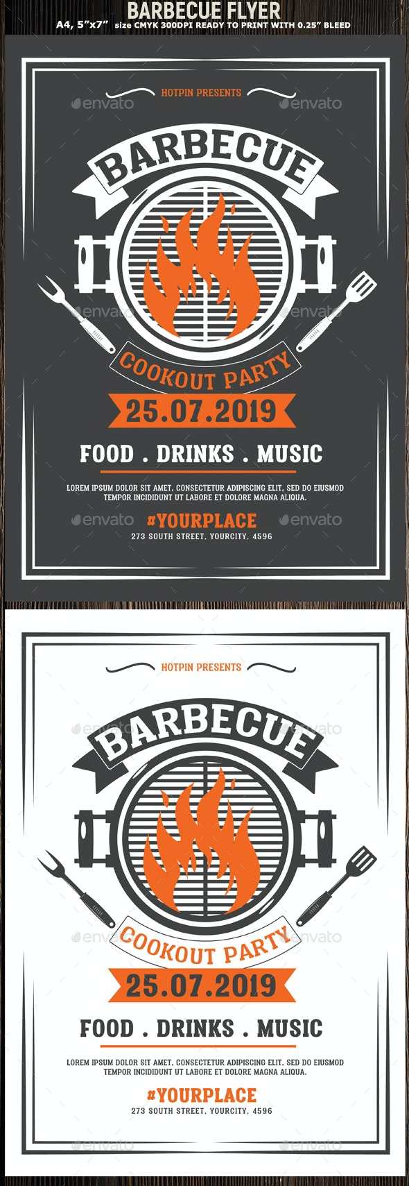 Bbq Barbecue Flyer Template - Events Flyers