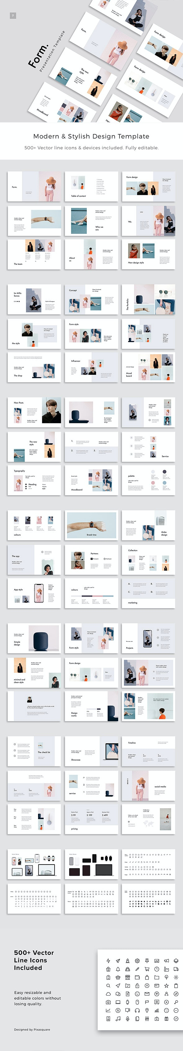 Form - Stylish Powerpoint Template - Creative PowerPoint Templates