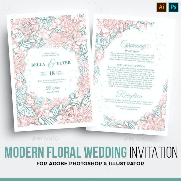 Floral Wedding Invitation / Flyer