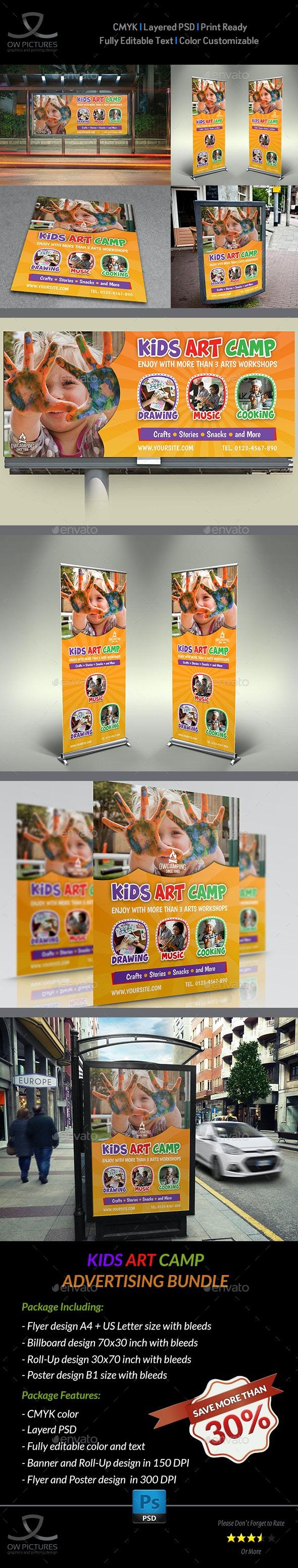 Kids Art Camp Advertising Bundle - Signage Print Templates
