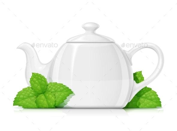 Ceramic Teapot - Food Objects