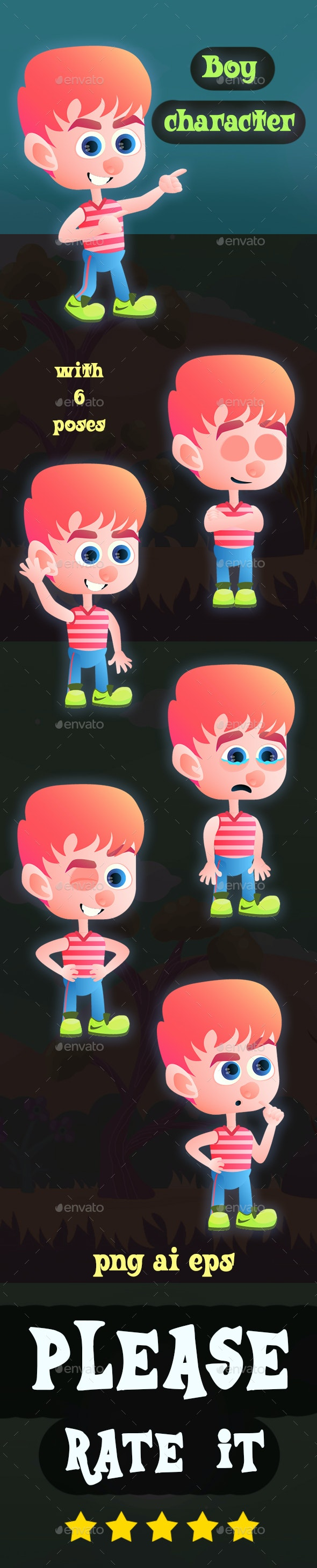 Vector Boy Character - People Characters