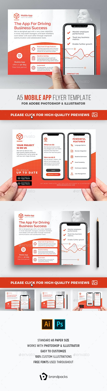 Mobile App Flyer - Corporate Flyers