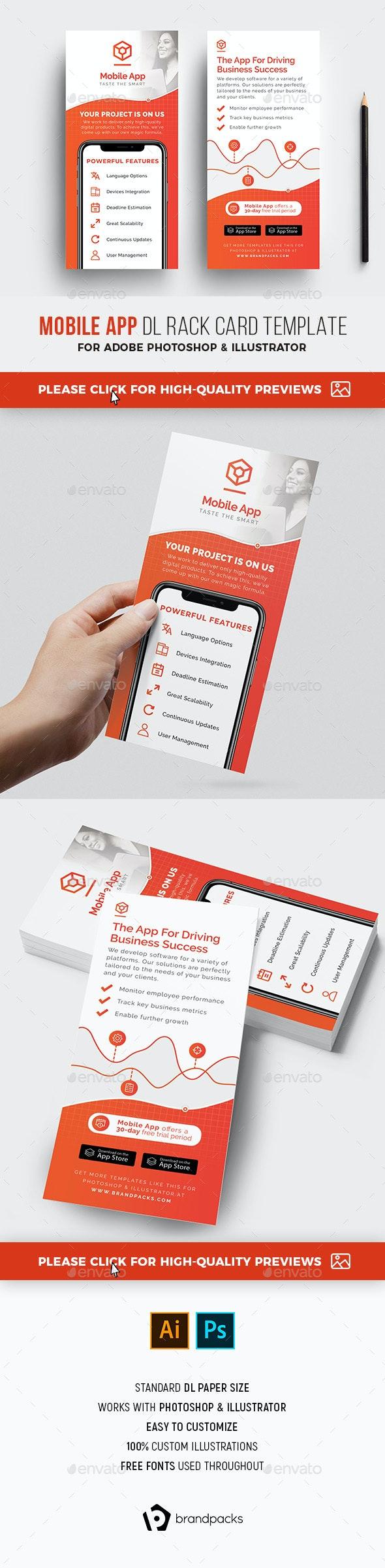 Mobile App DL Rack Card - Corporate Flyers