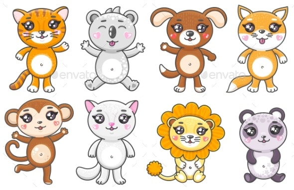 Set of Cartoon Animals - Animals Characters