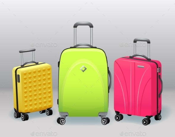 Business and Family Vacation Travel Luggage - Man-made Objects Objects