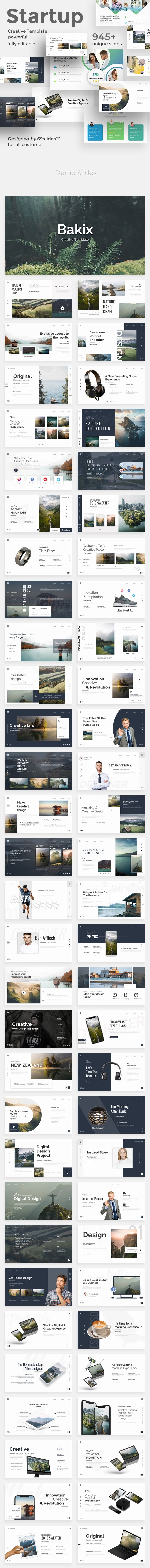 3 in 1 Easy Startup Bundle Keynote Pitch Deck Template - Creative Keynote Templates