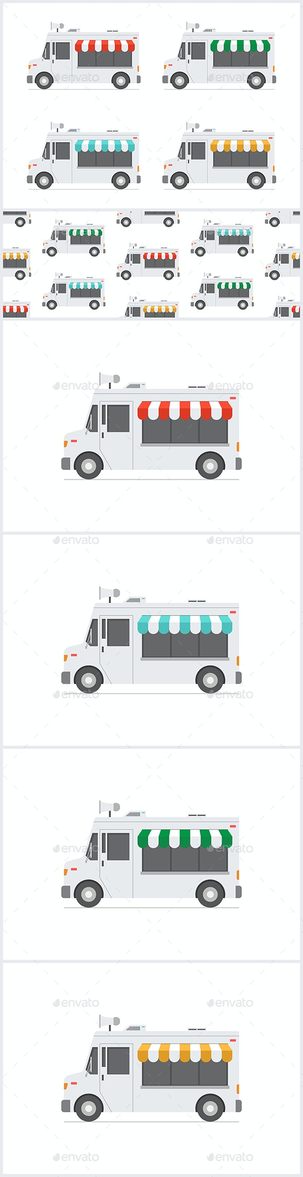 Set of Food Trucks - Food Objects