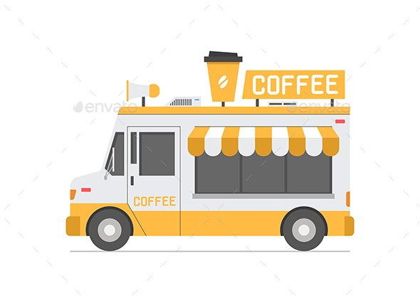Coffee Truck - Food Objects