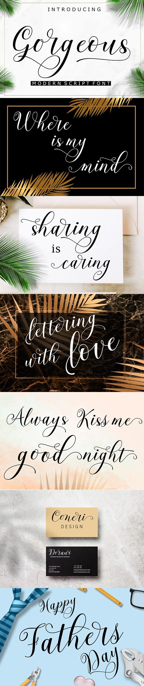Gorgeous - Script Fonts