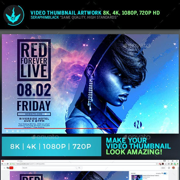 Live Concert Video Thumbnail Template