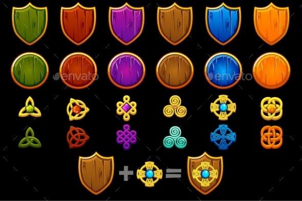 Create Celtic Shield Set - Miscellaneous Game Assets