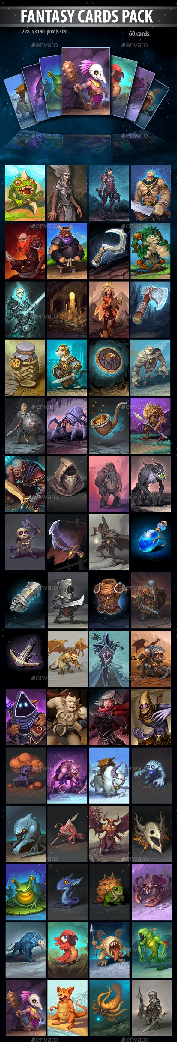 Fantasy Cards Pack - Miscellaneous Game Assets