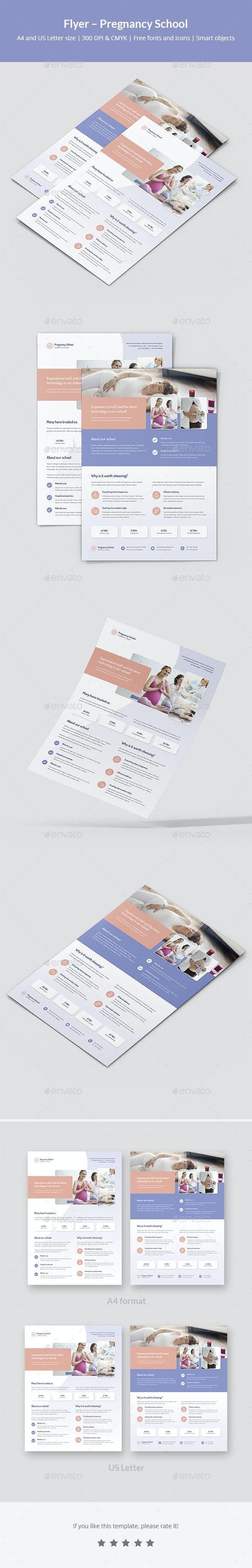 Flyer – Pregnancy School - Corporate Flyers